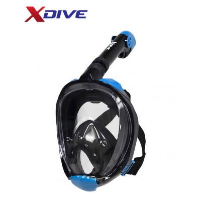XDive Mask Tube Full Face Black