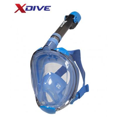 XDive Mask Tube Full Face Blue