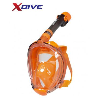 XDive Mask Tube Full Face Orange