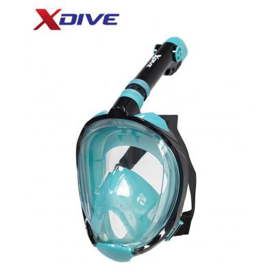 XDive Mask Tube Full Face Turquoise