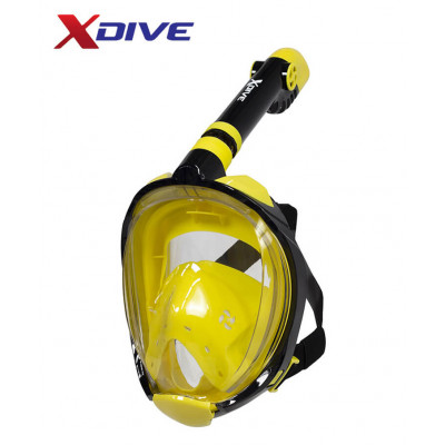 XDive Mask Tube Full Face Yellow