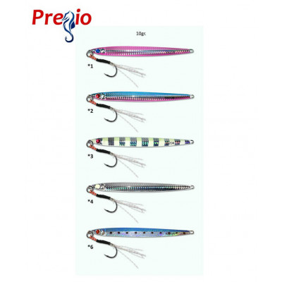 Fishing Pilkers Pregio Razor 10gr, Assist Hook-BKK